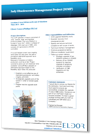 ConocoPhillips Judy Obsolescence Management Project_3D