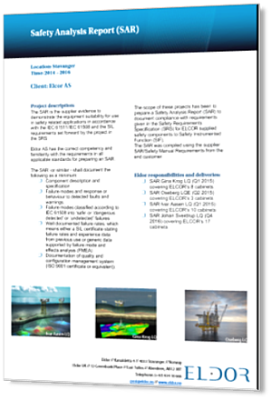 Elcor Safety Analysis Report SAR