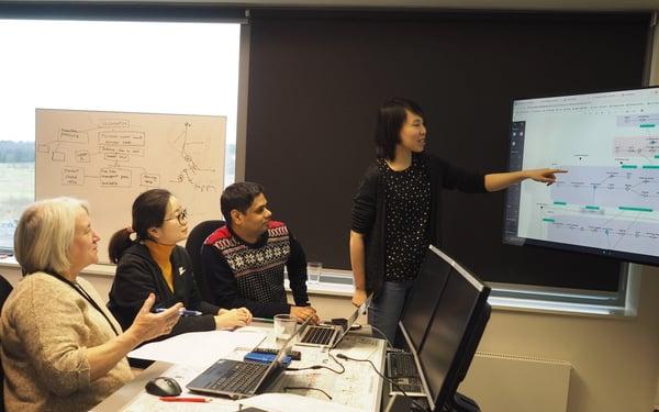 The Kairos (AlarmTracker) team from Eldor Technology and DTU, in Eldor offices, Stavanger, Norway.
